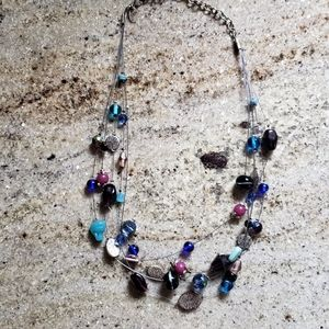 Pretty Lia Sophia layered beaded necklace